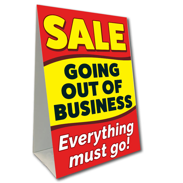 Going Out Of Business Sale Economy A-Frame Sign