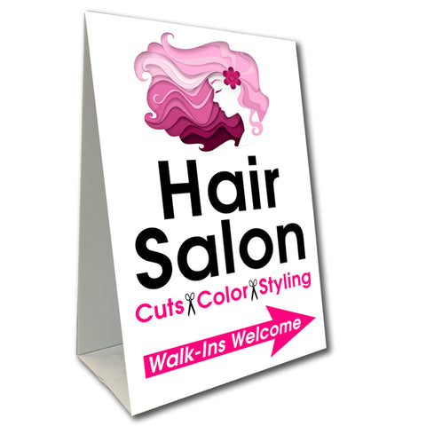 Hair Salon Arrow Economy A-Frame Sign