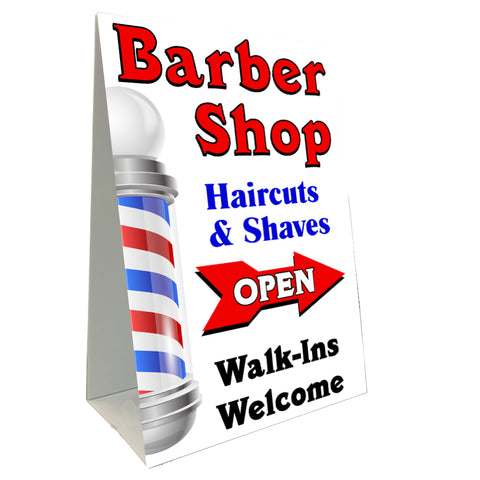 Barber Shop Arrow Economy A-Frame Sign