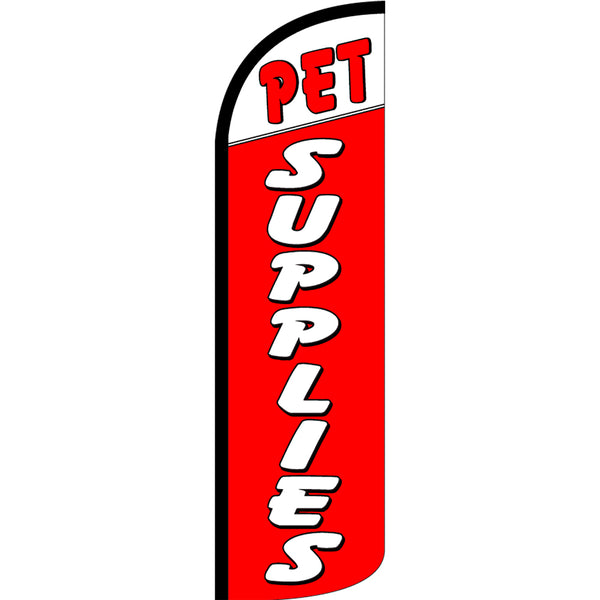 Pet Supplies  Windless Polyknit Feather Flag with Bundle Option (3 x 11.5 Feet)
