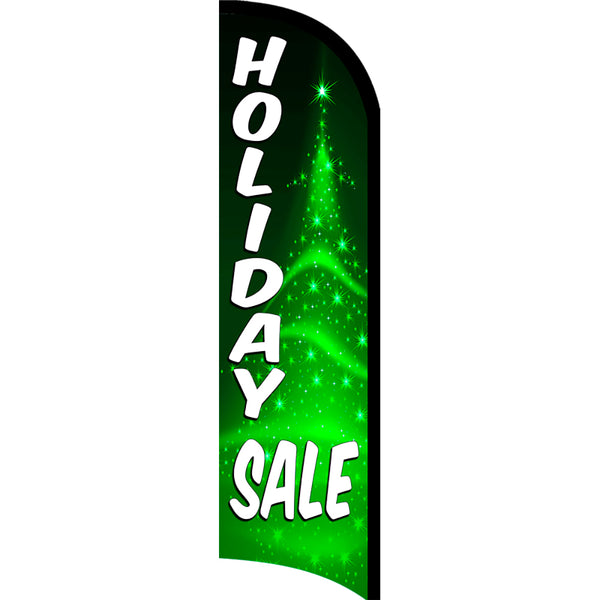 Holiday Sale Windless Polyknit Feather Flag with Bundle Option (3 x 11.5 Feet)