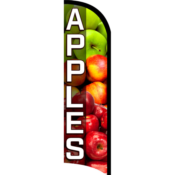 APPLES Premium Windless  Polyknit Feather Flag with Bundle Option (11 x 3 Feet)