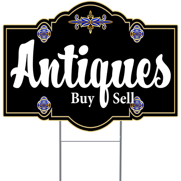 ANTIQUES 18x24 Inch Sign with Specialty Cut