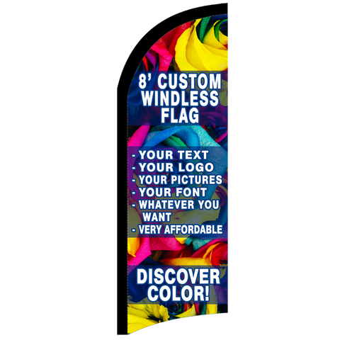 Custom Feather Flag 8 x 2.5 Feet