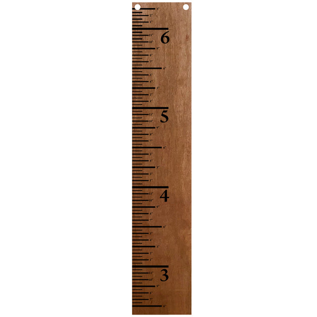 "Giant Wood Growth Chart Ruler 47"" x 9"" - Customizable"