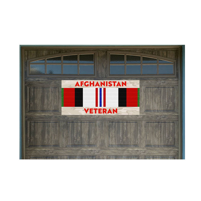 "Afghanistan Veteran 21"" x 40"" Magnetic Garage Banner For Steel Garage Doors (Made in the USA)"