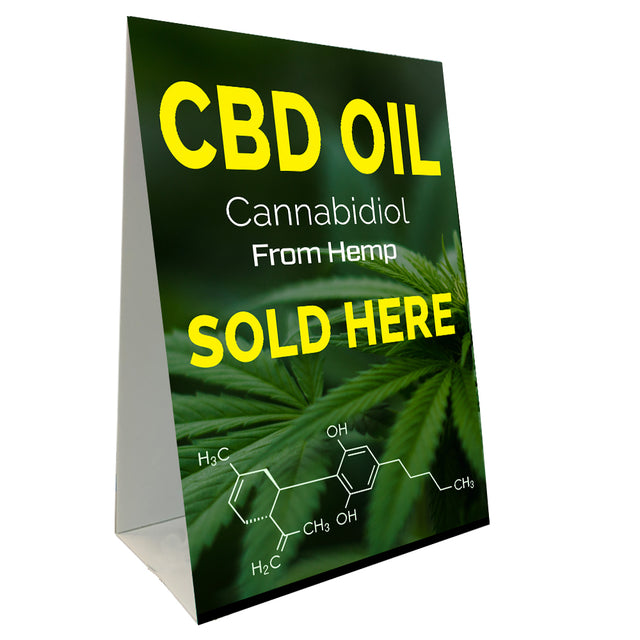 CBD Oil Sold Here Economy A-Frame Sign (Size Options)