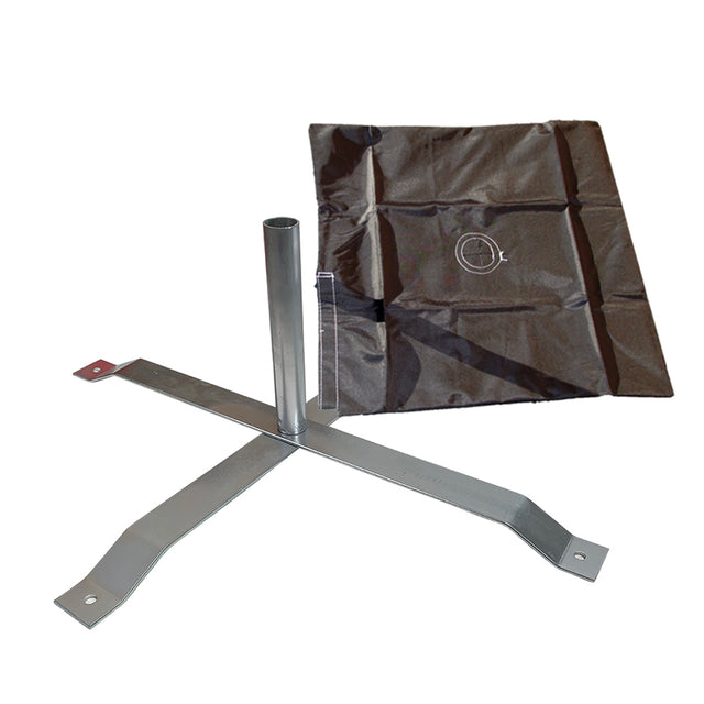 Cross Mount X-Stand and Sand Bag (For Hybrid and Aluminum Poles)