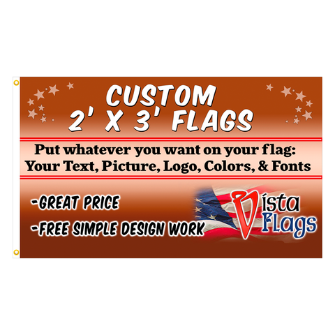Custom Horizontal Flag 2 x 3 Feet
