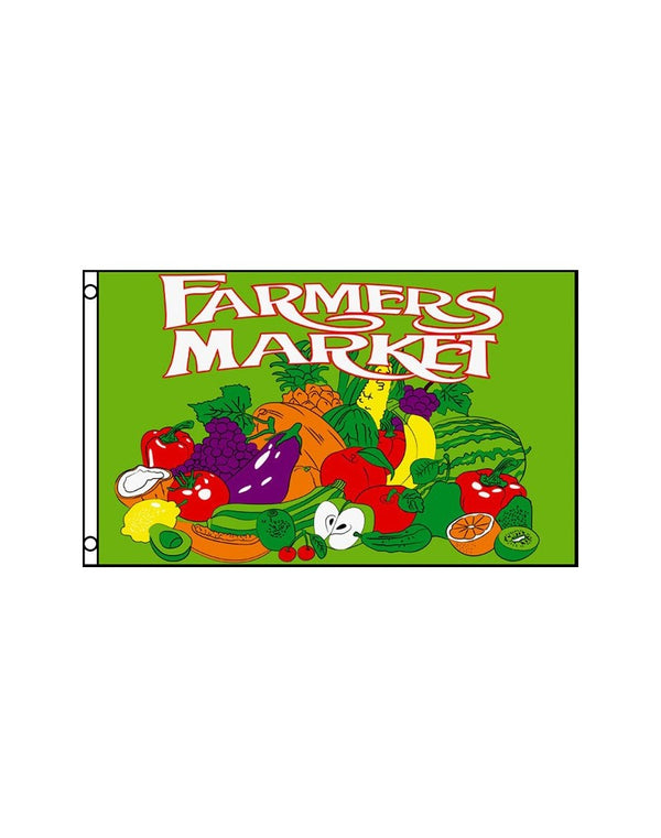 Farmers Market 3x5 Polyester Flag
