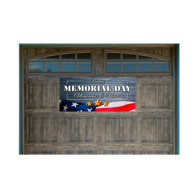 "Memorial Day Magnetic 21"" x 47"" Garage Banner For Steel Garage Doors"