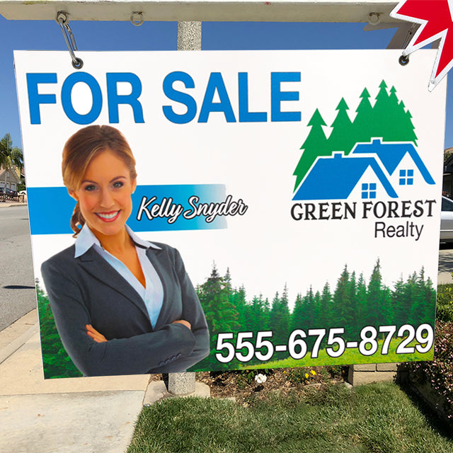 "Custom 2-Sided 24"" x 36"" Hanging Real Estate Sign"