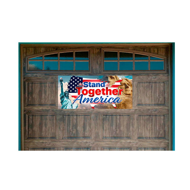 "Stand Together America Magnetic 21"" x 47"" Garage Banner For Steel Garage Doors"
