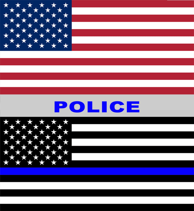 "Thin Blue Line Window Decal 10 Pack 6"" x 6.5"" (Removeable)"