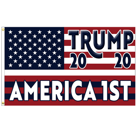 Trump 2020 America First Premium 3x5 Flag (Made in the USA)