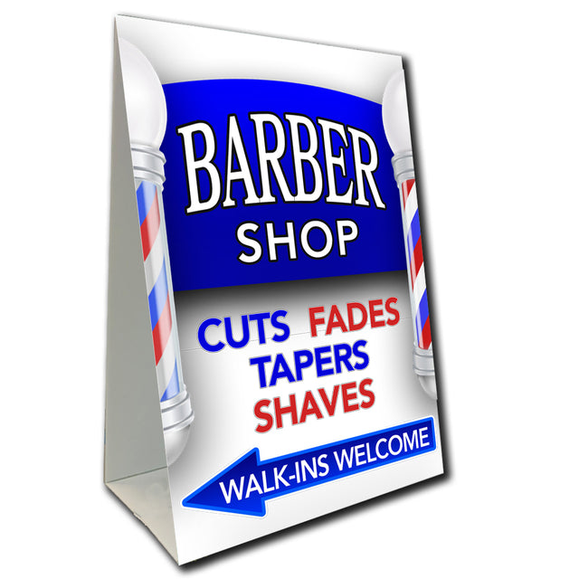 "Barbershop Economy A-Frame Sign 24"" wide by 36"" tall (Made in the USA)"