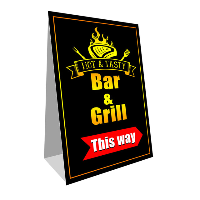 "Bar and Grill Economy A-Frame Sign 24"" wide by 36"" tall (Made in the USA)"