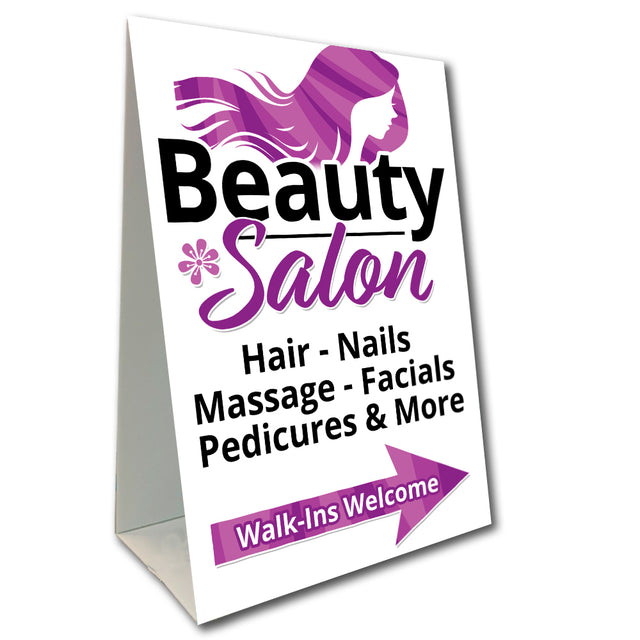 "Beauty Salon Economy A-Frame Sign 24"" wide by 36"" tall (Made in the USA)"