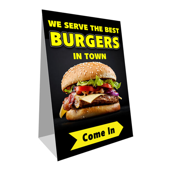 Burgers Economy A-Frame Sign