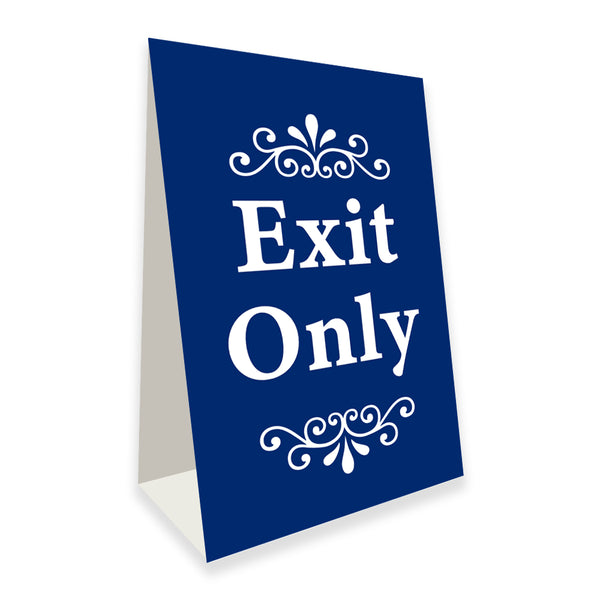 "Exit Only Economy A-Frame Sign 24"" wide by 36"" tall (Made in the USA)"