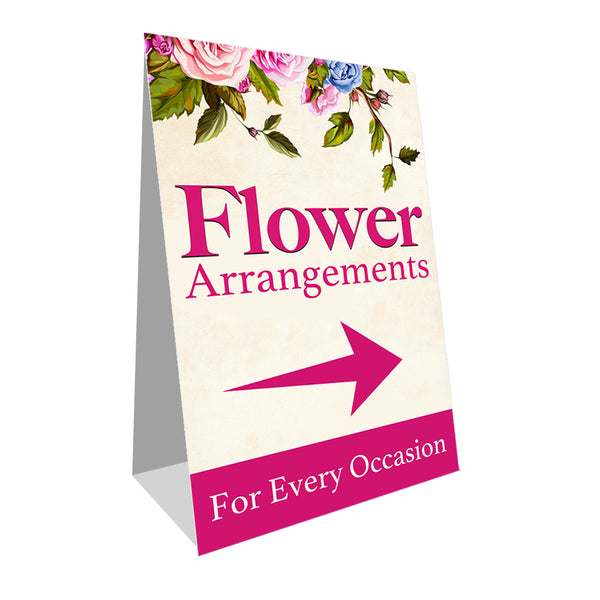 Flower Arrangements Economy A-Frame Sign
