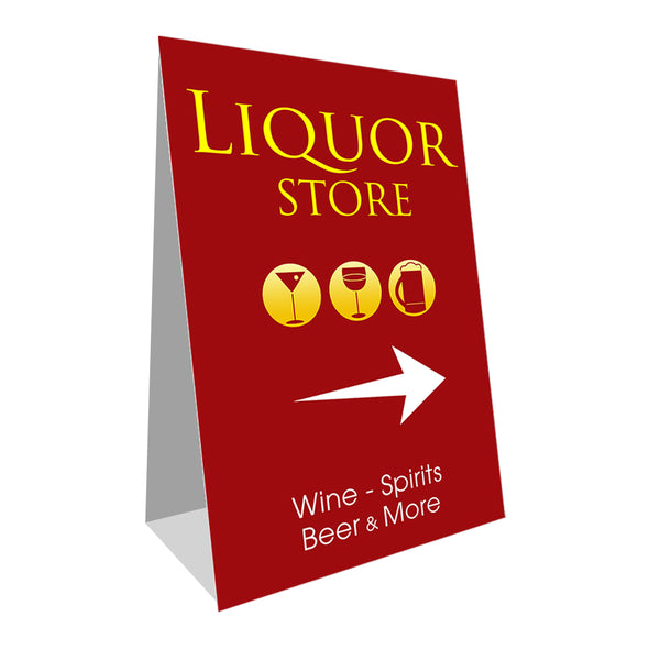 "Liquor Store Economy A-Frame Sign 24"" wide by 36"" tall (Made in the USA)"