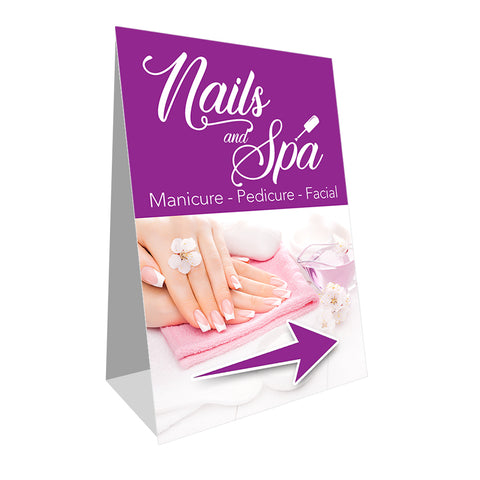 Nails and Spa Economy A-Frame Sign