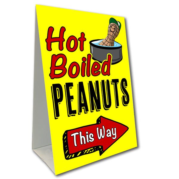 Hot Boiled Peanuts Arrow Economy A-Frame Sign