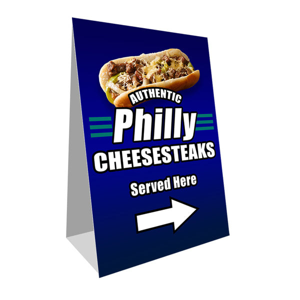 "Philly Cheesesteaks Economy A-Frame Sign 24"" wide by 36"" tall (Made in the USA)"