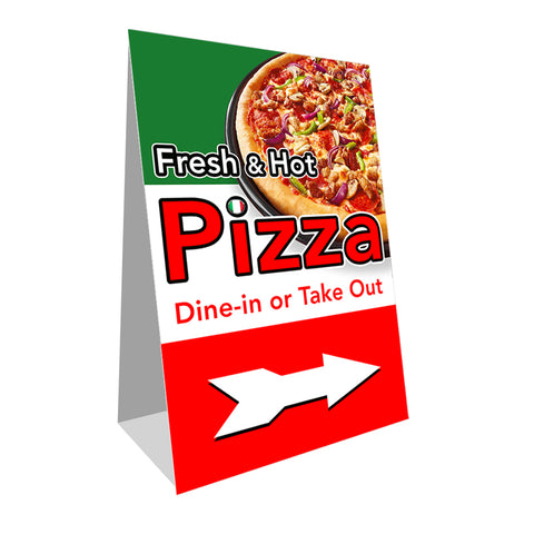 Fresh and Hot Pizza Economy A-Frame Sign