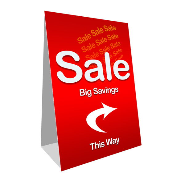 Sale Economy A-Frame Sign