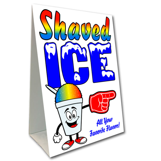 "Shaved Ice Economy A-Frame Sign 24"" wide by 36"" tall (Made in the USA)"