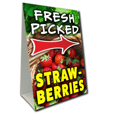 Strawberries Arrow Economy A-Frame Sign (Size Options)