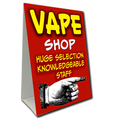 Vape Shop Arrow Economy A-Frame Sign (Size Options)