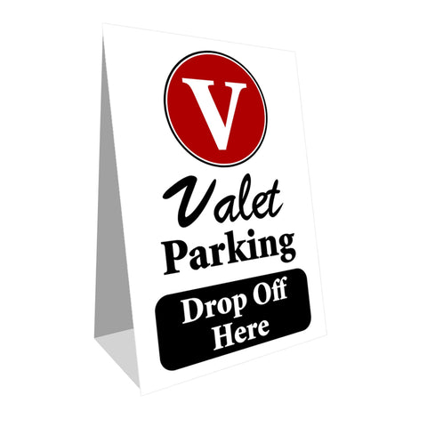 Valet Parking Drop Off  Economy A-Frame Sign