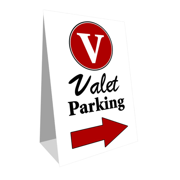 Valet Parking (Side Arrow) Economy A-Frame Sign