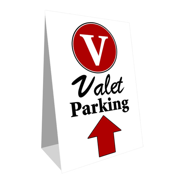 Valet Parking (Up Arrow) Economy A-Frame Sign