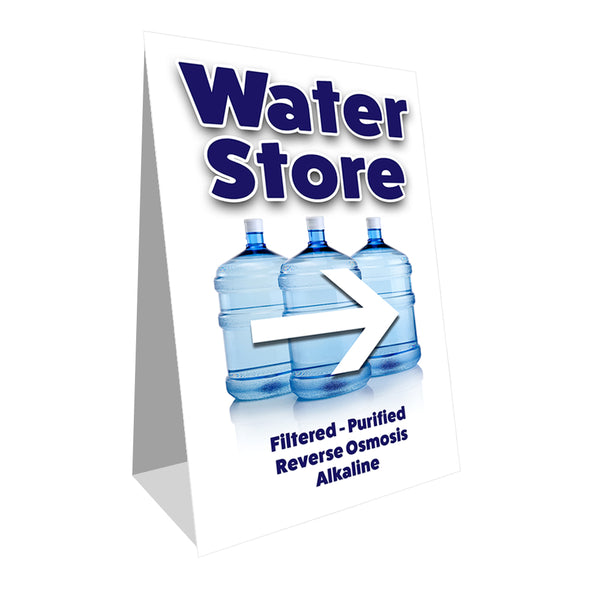 Water Store Economy A-Frame Sign