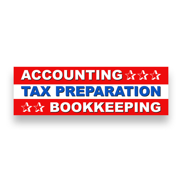 ACCOUNTING TAX PREP & BOOKKEEPING Vinyl Banner (Size Options)