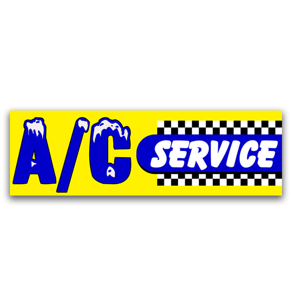 A/C Service  Vinyl Banner (Size Options)