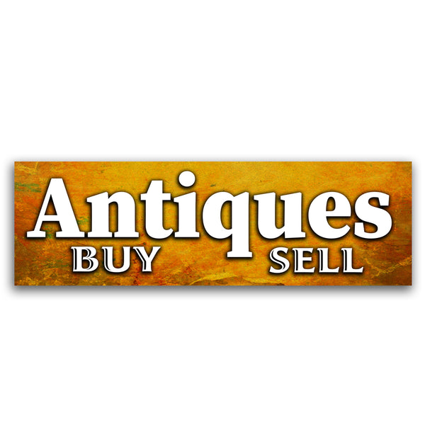 Antiques Vinyl Banner (Size Options)