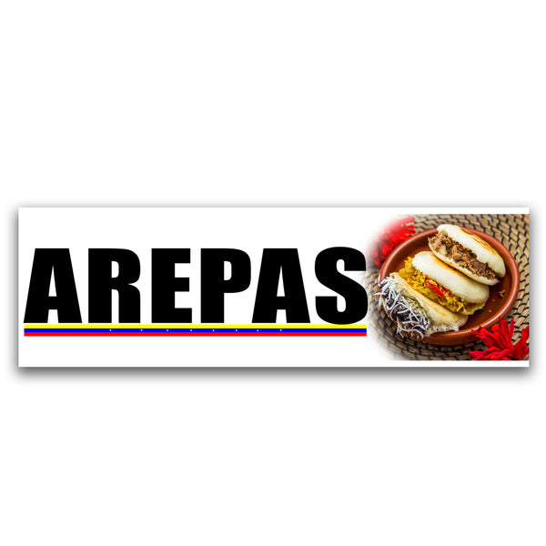 Arepas Vinyl Banner (Size Options)