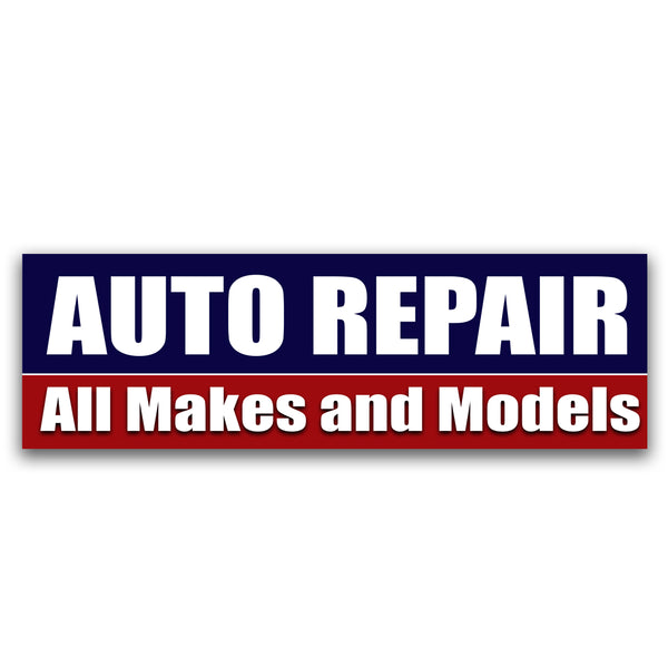 Auto Repair all makes and models Vinyl Banner (Size Options)