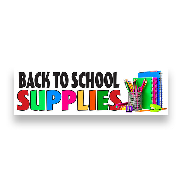 BACK TO SCHOOL SUPPLIES Vinyl Banner (Size Options)