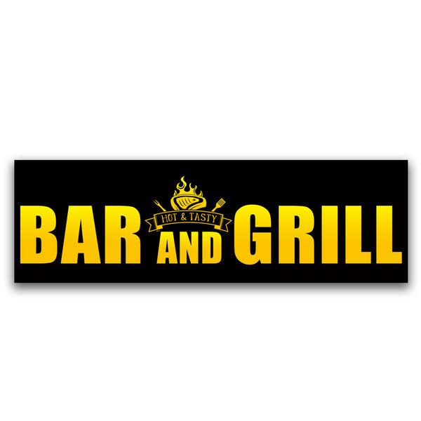 Bar and Grill Vinyl Banner (Size Options)