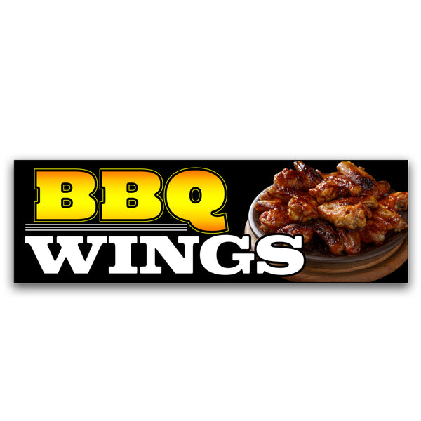 BBQ wings Vinyl Banner (Size Options)