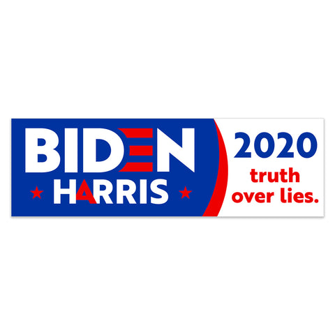 Biden Harris 2020 Truth Over Lies Vinyl Banner (Size Options)