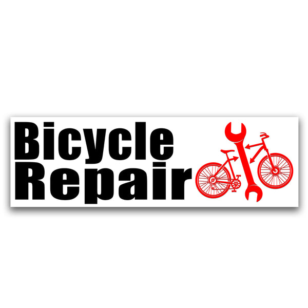 Bicycle Repair Vinyl Banner (Size Options)