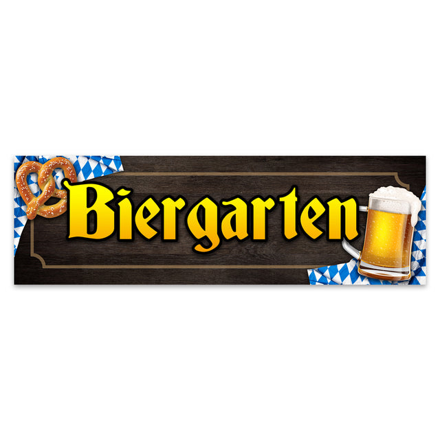 Biergarten Vinyl Banner (Size Options)