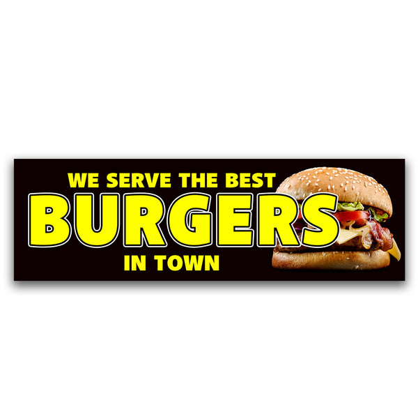 Burgers Vinyl Banner (Size Options)
